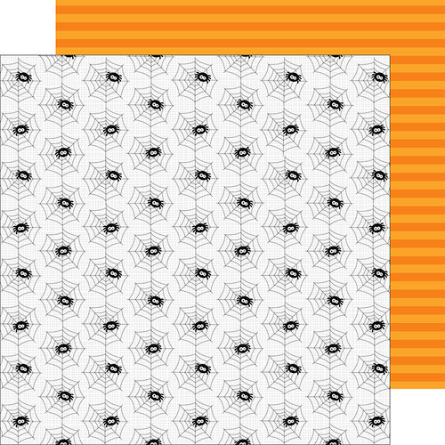 Doodlebug Design - Boos and Brews Collection - Halloween - 12 x 12 Double Sided Paper - Spooky Spiders