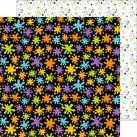 Doodlebug Design - Boos and Brews Collection - Halloween - 12 x 12 Double Sided Paper - Matter Splatters