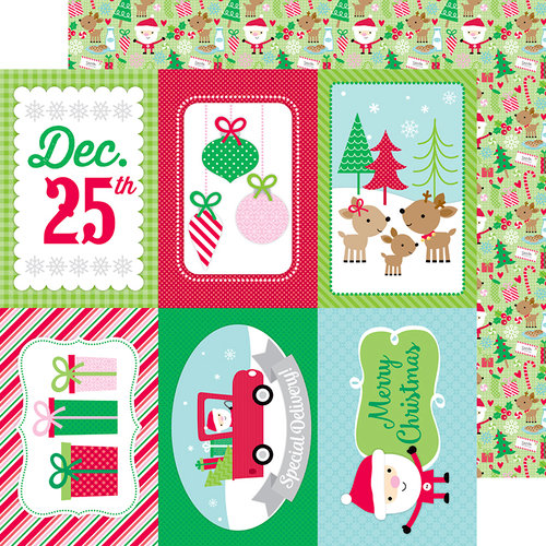 Doodlebug Design - Here Comes Santa Claus Collection - Christmas - 12 x 12 Double Sided Paper - Here Comes Santa Claus