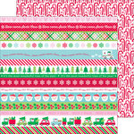 Doodlebug Design - Here Comes Santa Claus Collection - Christmas - 12 x 12 Double Sided Paper - Santa's Sweets