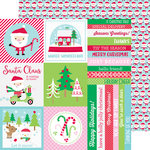 Doodlebug Design - Here Comes Santa Claus Collection - Christmas - 12 x 12 Double Sided Paper - Santa Celebration