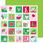 Doodlebug Design - Here Comes Santa Claus Collection - Christmas - 12 x 12 Double Sided Paper - Christmas Countdown