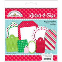 Doodlebug Design - Here Comes Santa Claus Collection - Christmas - Labels and Tags