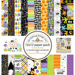 Doodlebug Design - Boos and Brews Collection - Halloween - 12 x 12 Paper Pack