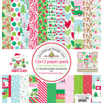 Doodlebug Design - Here Comes Santa Claus Collection - Christmas - 12 x 12 Paper Pack