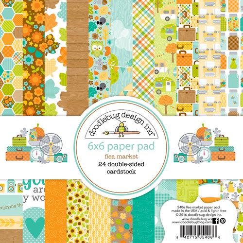 Doodlebug Design - Flea Market Collection - 6 x 6 Paper Pad
