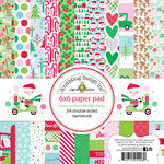 Doodlebug Design - Here Comes Santa Claus Collection - Christmas - 6 x 6 Paper Pad