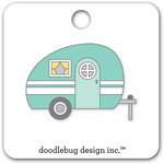 Doodlebug Design - Flea Market Collection - Collectible Pins - Glamper