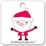 Doodlebug Design - Here Comes Santa Claus Collection - Christmas - Collectible Pins - Santa