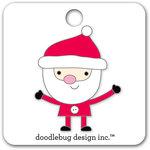 Doodlebug Design - Here Comes Santa Claus Collection - Christmas - Collectible Pins - Santa