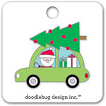 Doodlebug Design - Here Comes Santa Claus Collection - Christmas - Collectible Pins - Here Comes Santa