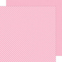Doodlebug Design - Petite Prints Collection - 12 x 12 Double Sided Paper - Gingham and Linen - Cupcake
