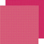 Doodlebug Design - Petite Prints Collection - 12 x 12 Double Sided Paper - Gingham and Linen - Ruby