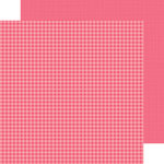 Doodlebug Design - Petite Prints Collection - 12 x 12 Double Sided Paper - Gingham and Linen - Cherry