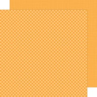 Doodlebug Design - Petite Prints Collection - 12 x 12 Double Sided Paper - Gingham and Linen - Tangerine