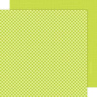 Doodlebug Design - Petite Prints Collection - 12 x 12 Double Sided Paper - Gingham and Linen - Citrus
