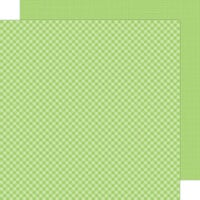 Doodlebug Design - Petite Prints Collection - 12 x 12 Double Sided Paper - Gingham and Linen - Limeade