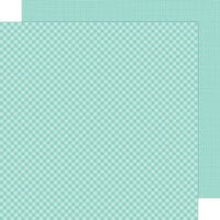 Doodlebug Design - Petite Prints Collection - 12 x 12 Double Sided Paper - Gingham and Linen - Pistachio