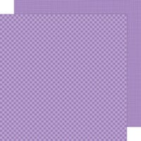 Doodlebug Design - Petite Prints Collection - 12 x 12 Double Sided Paper - Gingham and Linen - Orchid