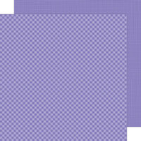 Doodlebug Design - Petite Prints Collection - 12 x 12 Double Sided Paper - Gingham and Linen - Lilac