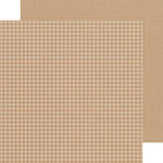Doodlebug Design - Petite Prints Collection - 12 x 12 Double Sided Paper - Gingham and Linen - Kraft