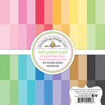 Doodlebug Design - Petite Prints Collection - 6 x 6 Paper Pad - Dot, Grid, Daisy and Stripe