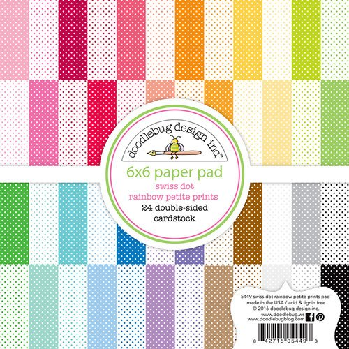 Doodlebug Design - Petite Prints Collection - 6 x 6 Paper Pad - Swiss Dot