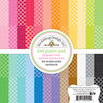 Doodlebug Design - Petite Prints Collection - 6 x 6 Paper Pad - Gingham and Linen