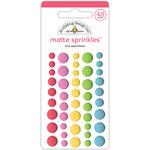 Doodlebug Design - Cream and Sugar Collection - Matte Sprinkles - Self Adhesive Enamel Dots - Love Assortment