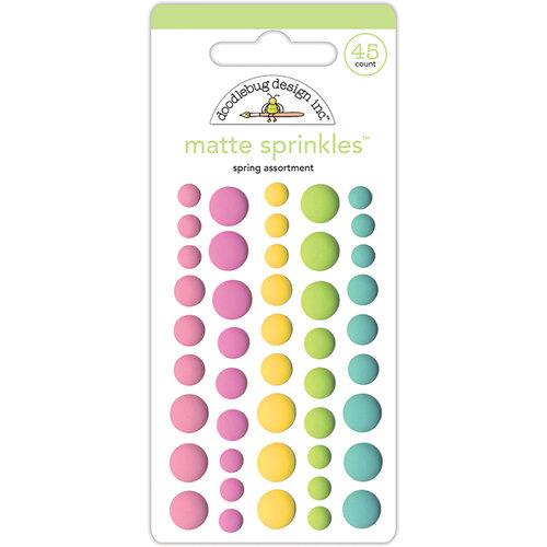 Doodlebug Design - Spring Things Collection - Matte Sprinkles - Self Adhesive Enamel Dots - Spring Assortment