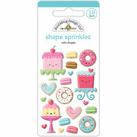 Doodlebug Design - Cream and Sugar Collection - Sprinkles - Self Adhesive Enamel Shapes - Cake Shoppe