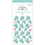 Doodlebug Design - Spring Things Collection - Sprinkles - Self Adhesive Enamel Shapes - So Tweet