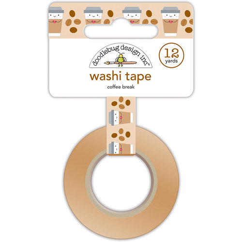 Doodlebug Design - Cream and Sugar Collection - Washi Tape - Coffee Break