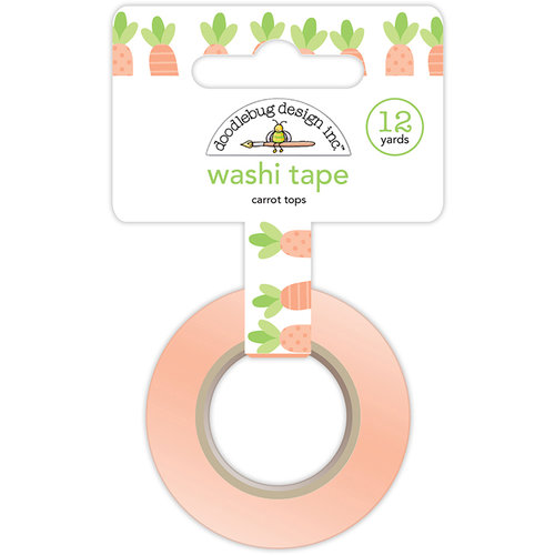 Doodlebug Design - Easter Express Collection - Washi Tape - Carrot Tops