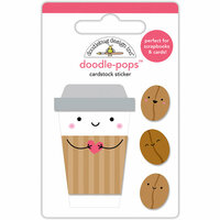 Doodlebug Design - Cream and Sugar Collection - Doodle-Pops - 3 Dimensional Cardstock Stickers - Coffee Mates