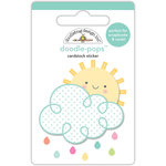 Doodlebug Design - Spring Things Collection - Doodle-Pops - 3 Dimensional Cardstock Stickers - Hello Sunshine