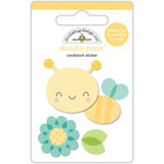 Doodlebug Design - Spring Things Collection - Doodle-Pops - 3 Dimensional Cardstock Stickers - Honey Bee