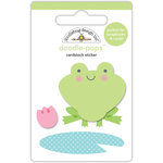 Doodlebug Design - Spring Things Collection - Doodle-Pops - 3 Dimensional Cardstock Stickers - Froggy
