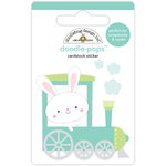 Doodlebug Design - Easter Express Collection - Doodle-Pops - 3 Dimensional Cardstock Stickers - Easter Express