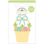 Doodlebug Design - Easter Express Collection - Doodle-Pops - 3 Dimensional Cardstock Stickers - Easter Basket