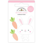 Doodlebug Design - Easter Express Collection - Doodle-Pops - 3 Dimensional Cardstock Stickers - Mr Bunny