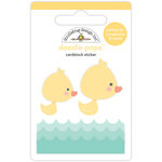 Doodlebug Design - Easter Express Collection - Doodle-Pops - 3 Dimensional Cardstock Stickers - Duckies