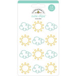 Doodlebug Design - Spring Things Collection - Cute Clips - Sunny Skies