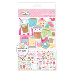 Doodlebug Design - Cream and Sugar Collection - Odds and Ends - Die Cut Cardstock Pieces
