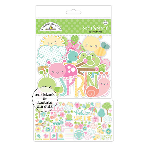Doodlebug Design - Spring Things Collection - Odds and Ends - Die Cut Cardstock Pieces