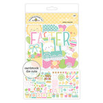 Doodlebug Design - Easter Express Collection - Odds and Ends - Die Cut Cardstock Pieces