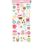 Doodlebug Design - Cream and Sugar Collection - Cardstock Stickers - Icons