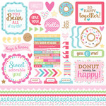 Doodlebug Design - Cream and Sugar Collection - 12 x 12 Cardstock Stickers - This and That