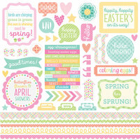 Doodlebug Design - Spring Things Collection - 12 x 12 Cardstock Stickers - This and That