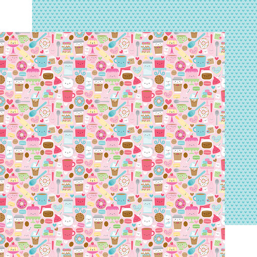 Doodlebug Design - Cream and Sugar Collection - 12 x 12 Double Sided Paper - Cream and Sugar